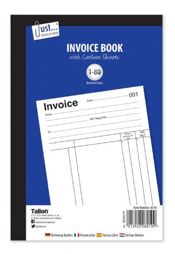 Invoice BookFull size 80 sets